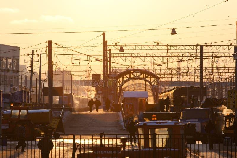 De terminal van de Kiyevskyspoorweg stock foto's