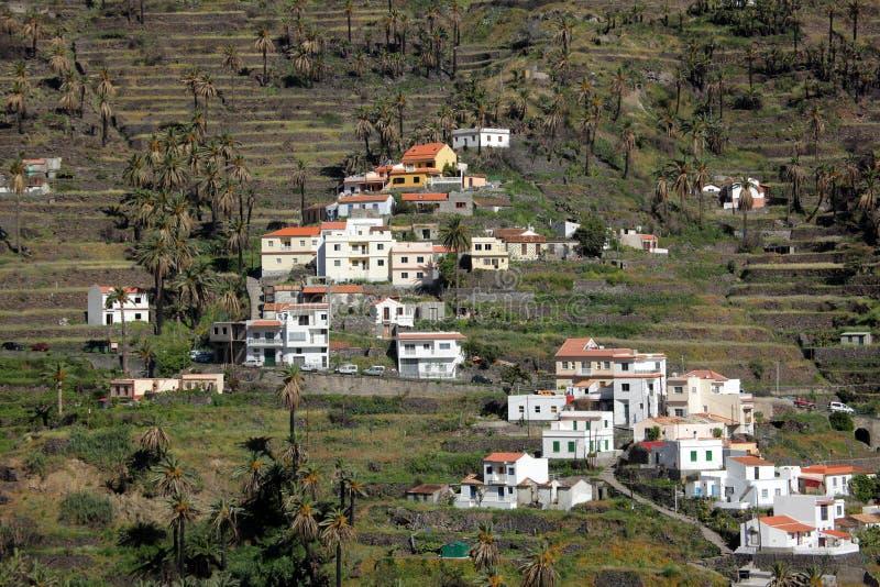 De terrassen van La Gomera royalty-vrije stock foto