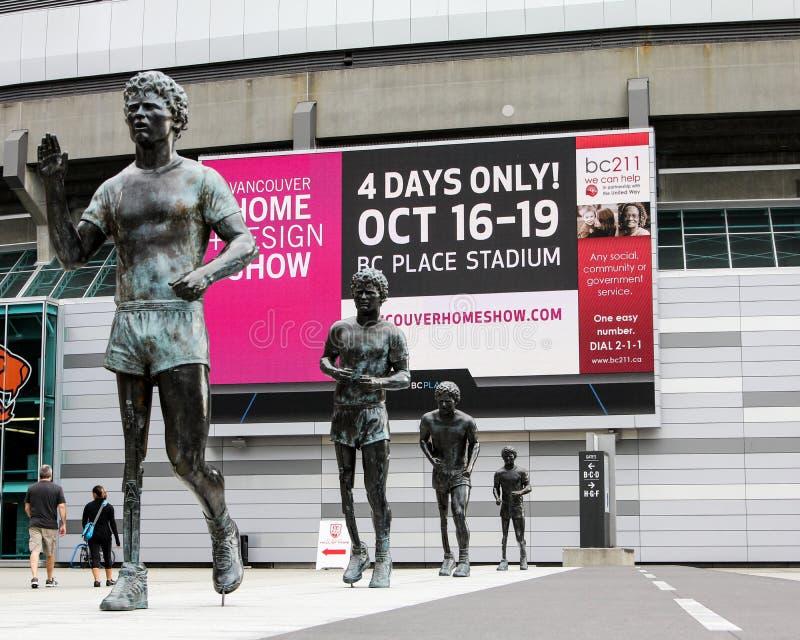 De Terry Fox da estátua da parte externa estádio BC imagem de stock royalty free
