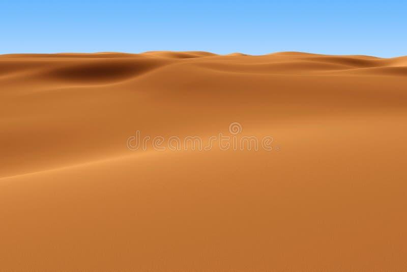 De teruggegeven Sahara vector illustratie