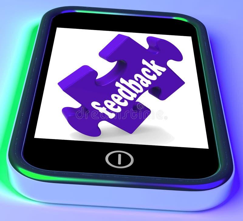 De terugkoppeling over Smartphone toont de Evaluatie van het Onderzoek vector illustratie