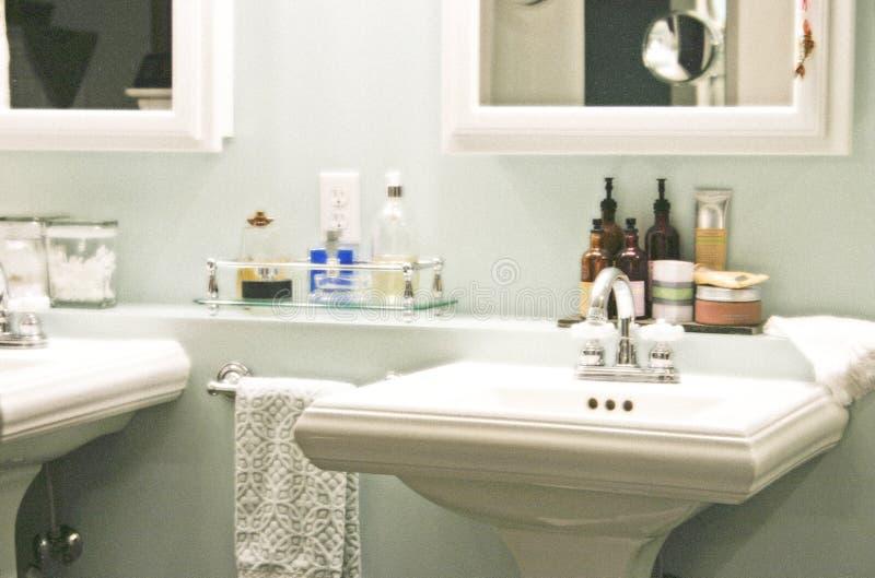 De terugtocht van de badkamers stock fotografie