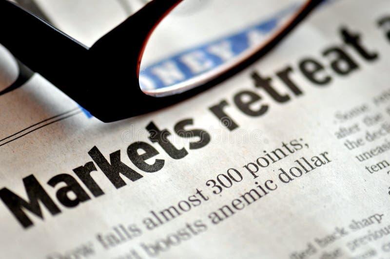 De Terugtocht van markten royalty-vrije stock afbeelding