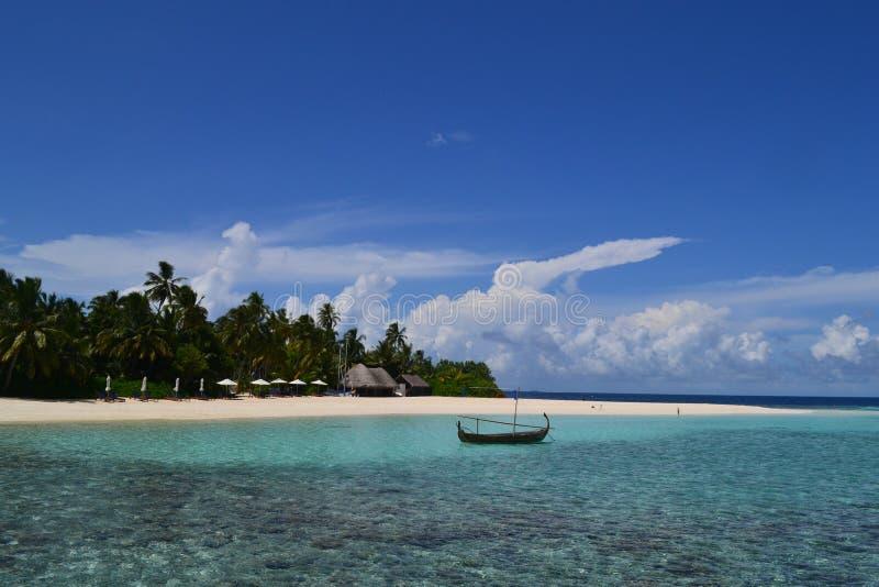 De TERUGTOCHThotel & KUUROORD van de Maldiven W royalty-vrije stock foto