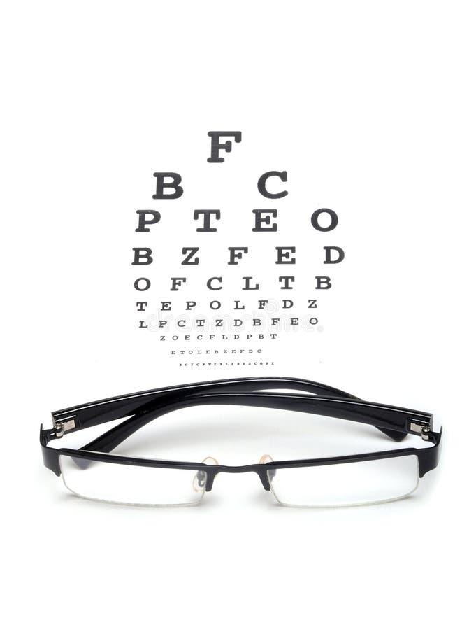 De test van de ooggrafiek stock fotografie