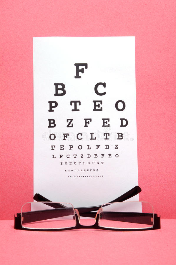 De test van de ooggrafiek stock foto