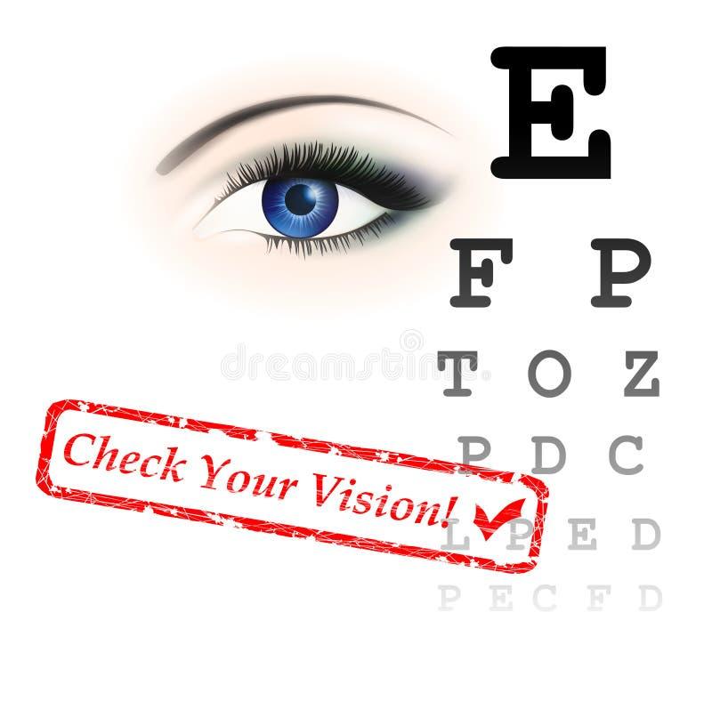 De test van de visie stock illustratie