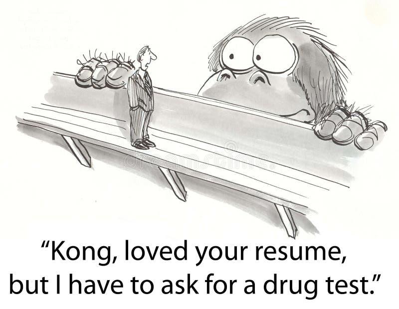 De test van Kong royalty-vrije illustratie