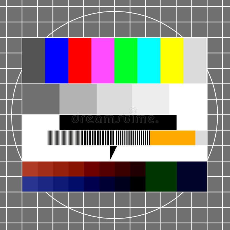 De testbeeld van TV vector illustratie