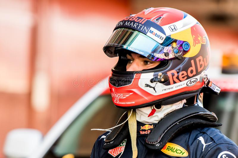 De Testdagen 2019 van Formule 1 - Pierre Gasly royalty-vrije stock fotografie
