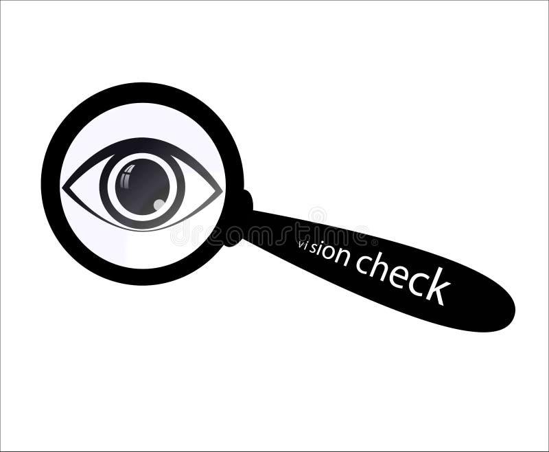 De testembleem van de oogvisie stock illustratie