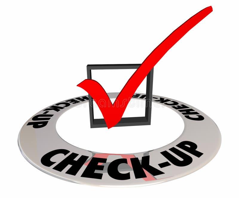 De Testexamen Mark Box van de controle Fysiek Evaluatie stock illustratie