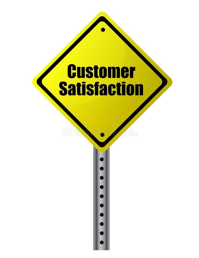 De Tevredenheid van de klant vector illustratie