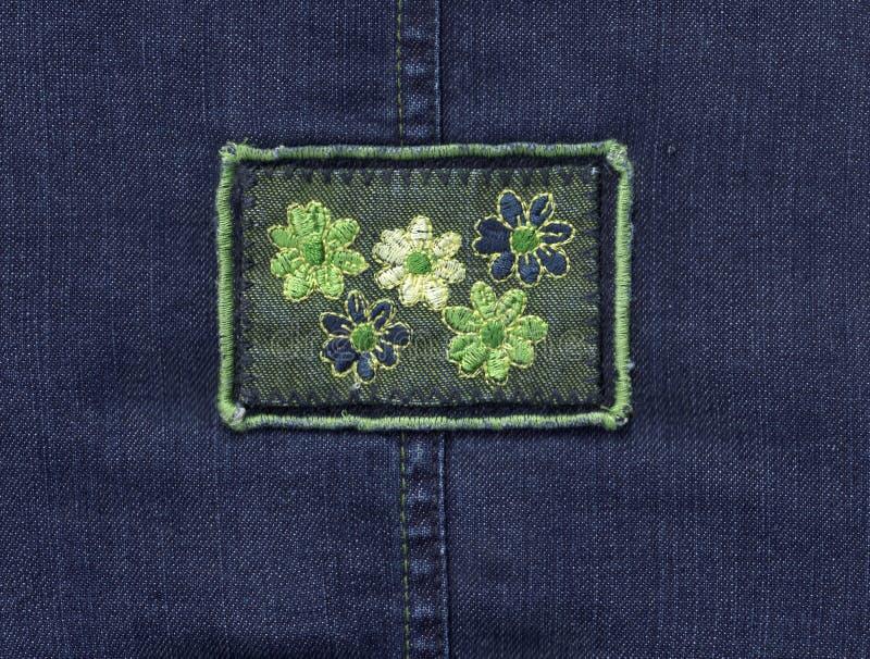 De textiel van jeans stock foto's