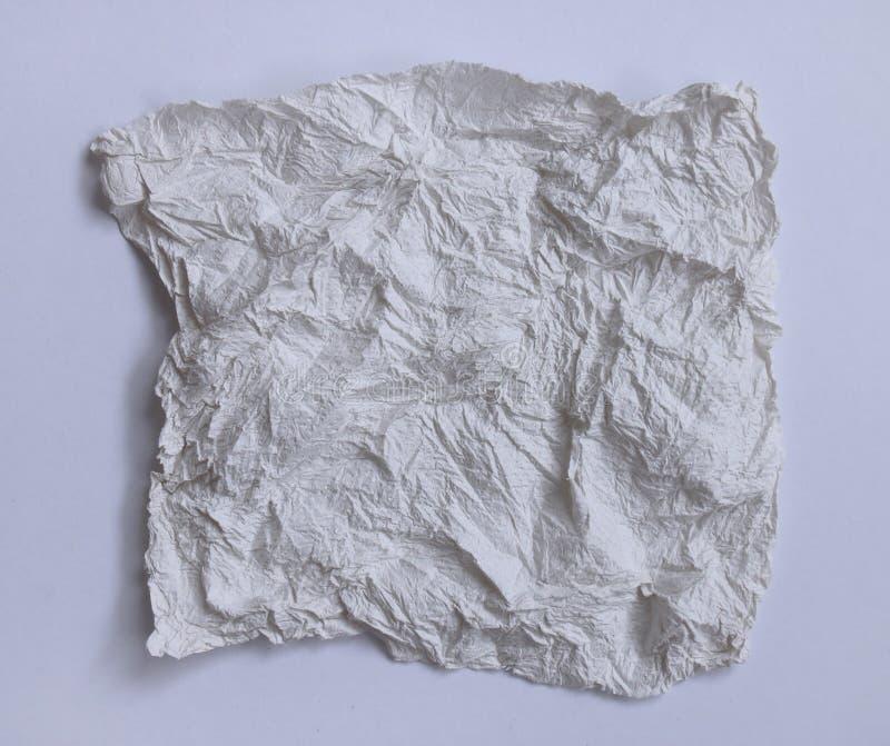 De textura del papel seda arrugado en el tono blanco y gris imágenes de archivo libres de regalías