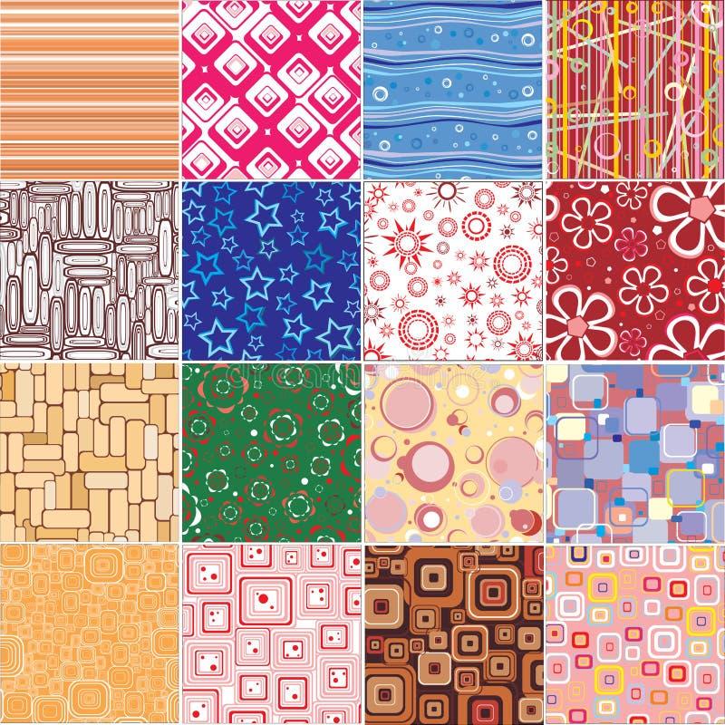 De texturen van de reeks stylishl vector illustratie