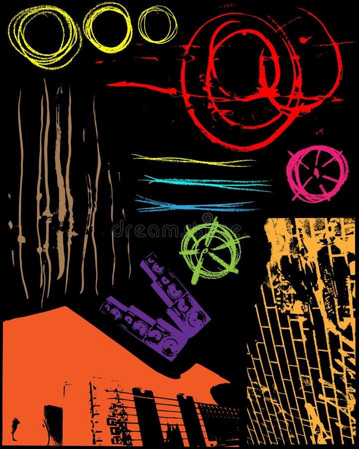 De Texturen van Grunge stock illustratie