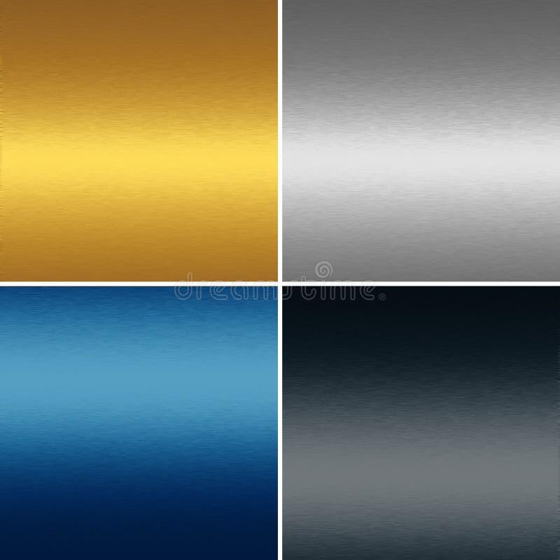 De texturen van het achtergrond metaal inzameling vector illustratie