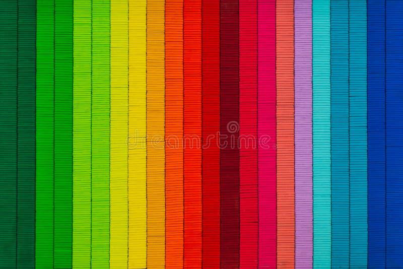 De textuur abstracte kleurrijke achtergrond van de regenboogdraad stock foto