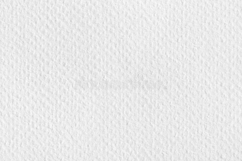 De textuur of de achtergrond van het waterverf Witboek op macro royalty-vrije stock foto