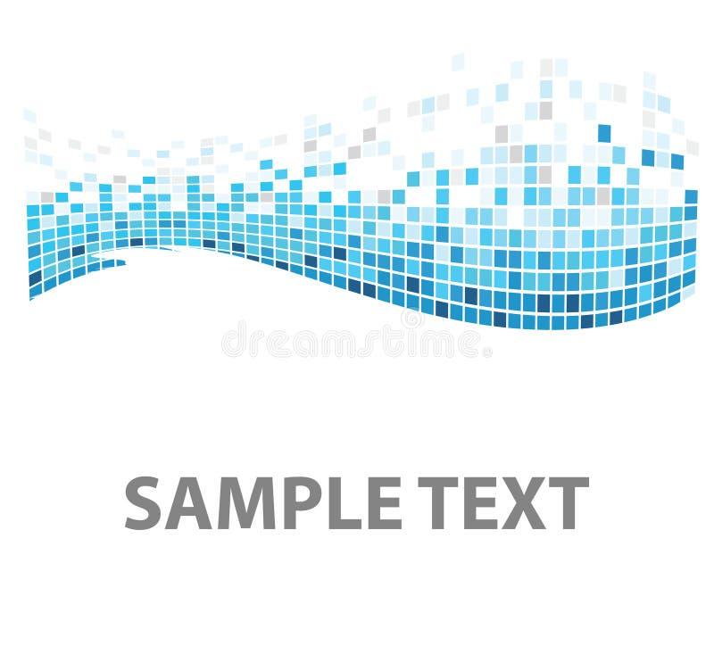 De textuur blauwe vissen van vierkanten vector illustratie