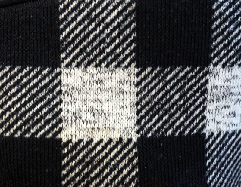 De textuur dichte omhooggaand van het plaidoverhemd, als achtergrond stock fotografie