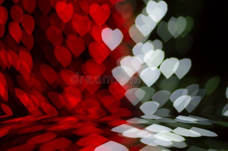 De textuur en de achtergrond van het Blure bokeh perspectief stock foto
