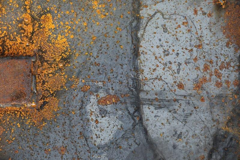 De textuur is metaal Industriële achtergrond van oude roestig stock foto