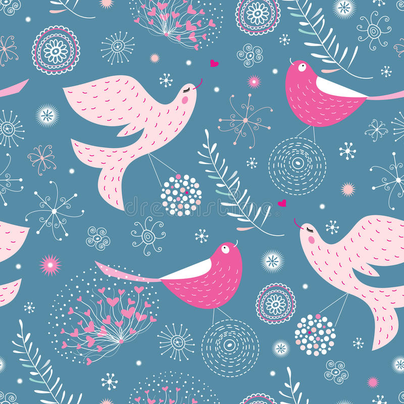 De textuur is mooie vogels vector illustratie