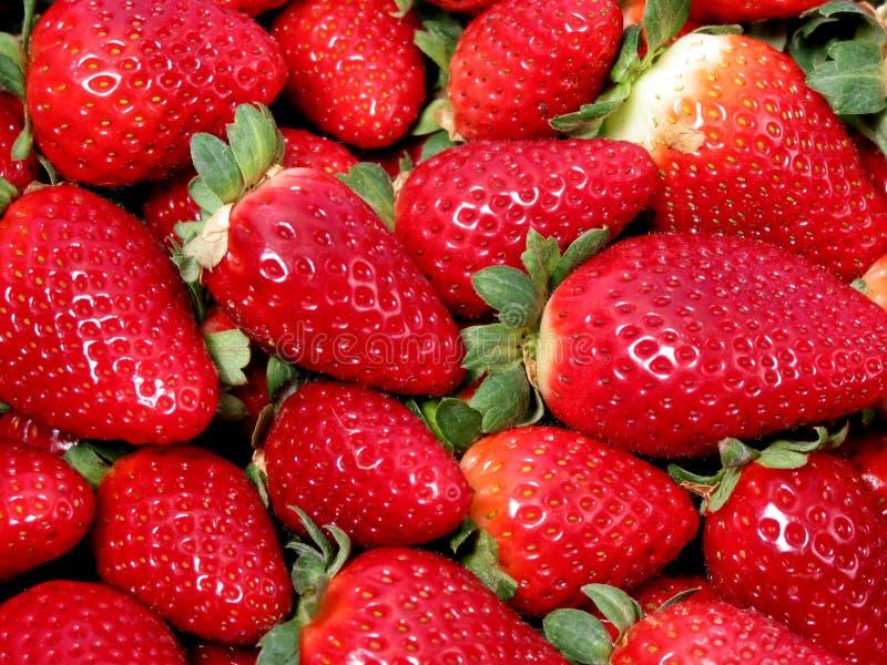 De textuur van aardbeien royalty-vrije stock fotografie