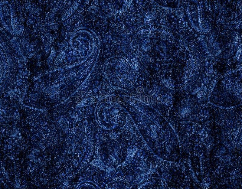 De textuur van batikpaisley herhaalt modern patroon royalty-vrije illustratie
