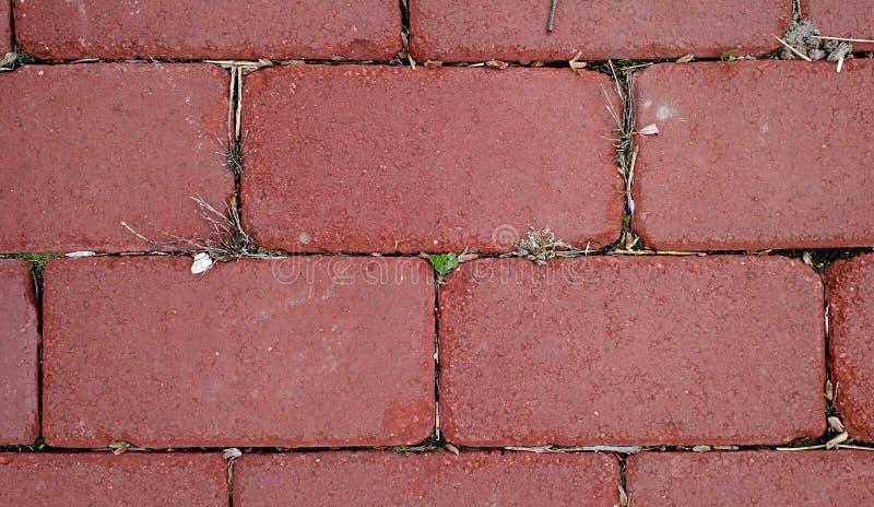 De Textuur van de baksteenweg royalty-vrije stock afbeelding