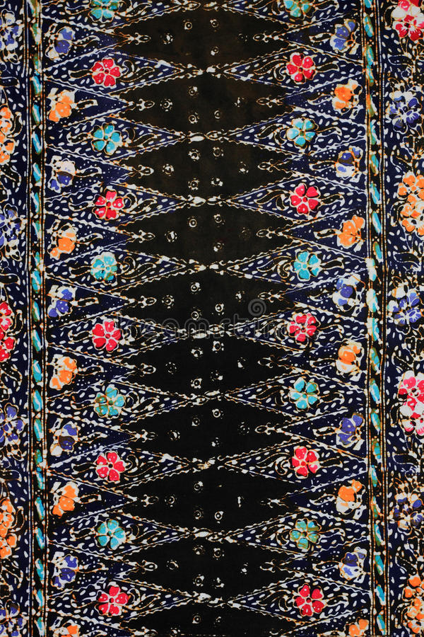 De textuur van de batik die in Maleisië wordt gemaakt stock afbeelding