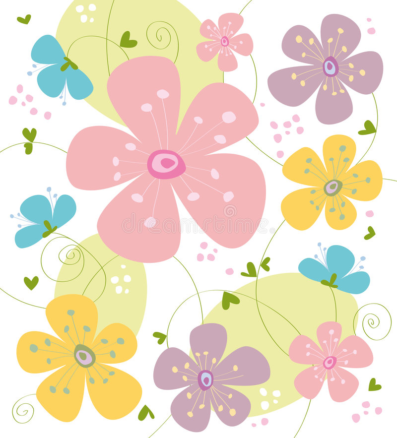 De textuur van de bloem royalty-vrije illustratie