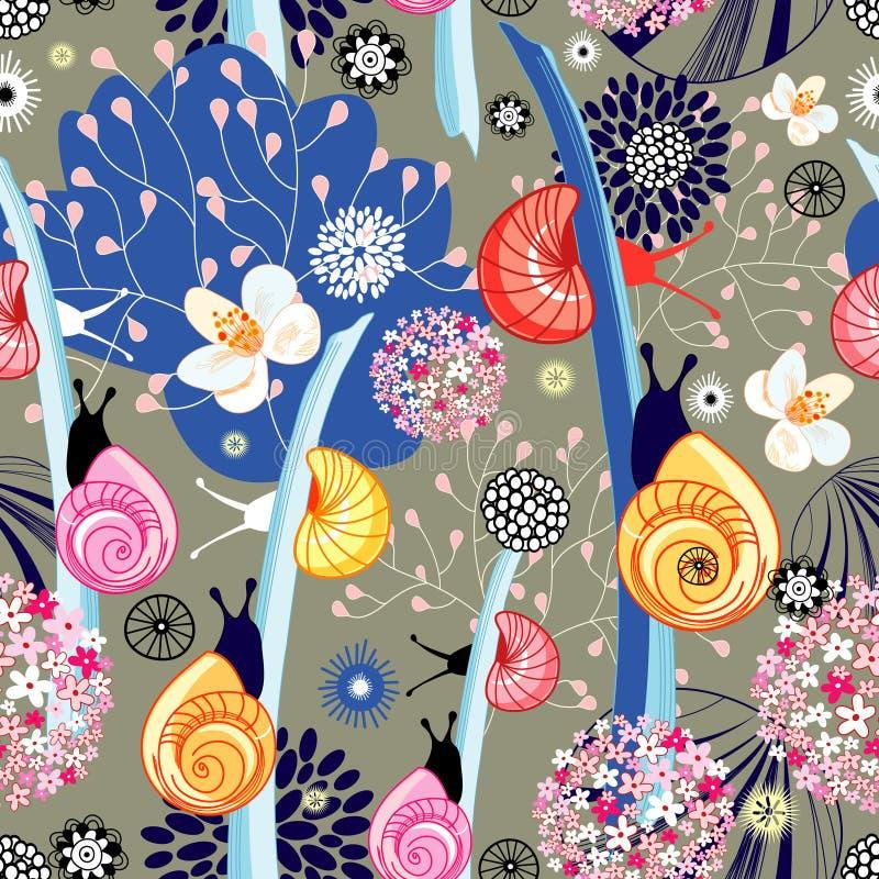 De textuur van de bloem met slakken royalty-vrije illustratie
