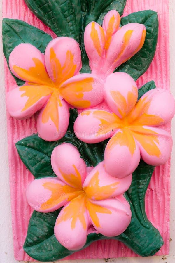 de textuur van de bloemmuur of achtergrond, proceskleur stock foto's