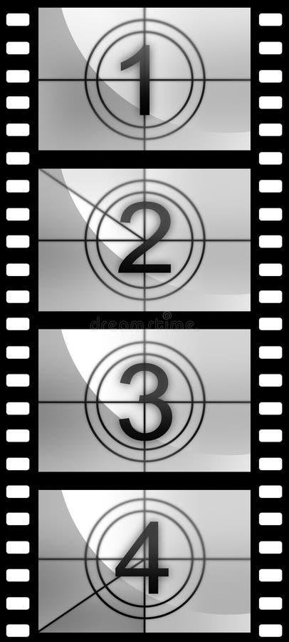 De textuur van de de strookaftelprocedure van de film stock illustratie
