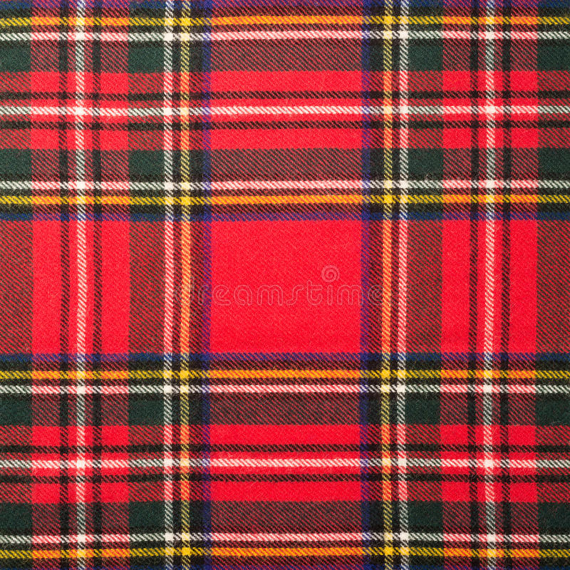 De textuur van de geruit Schots wollen stofplaid stock foto's
