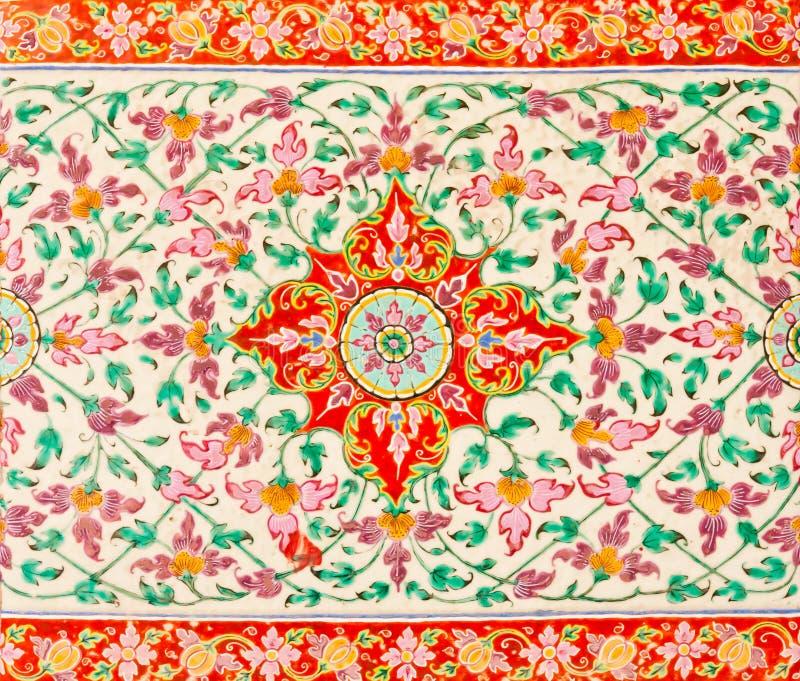De textuur van de het patroontegel van de bloem royalty-vrije stock afbeeldingen