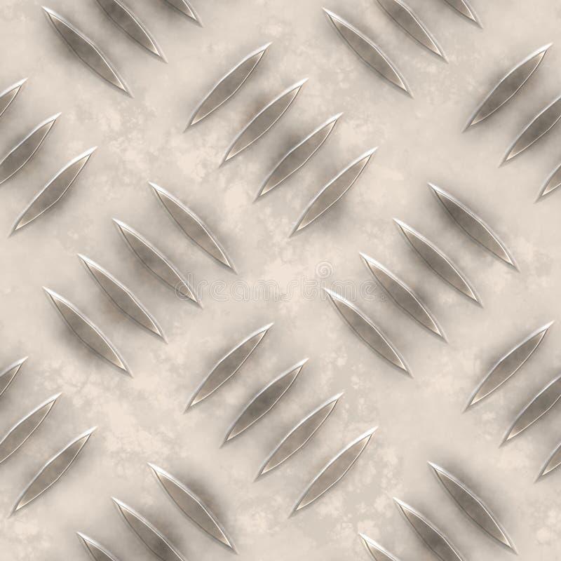 De textuur van de ijzerplaat stock illustratie
