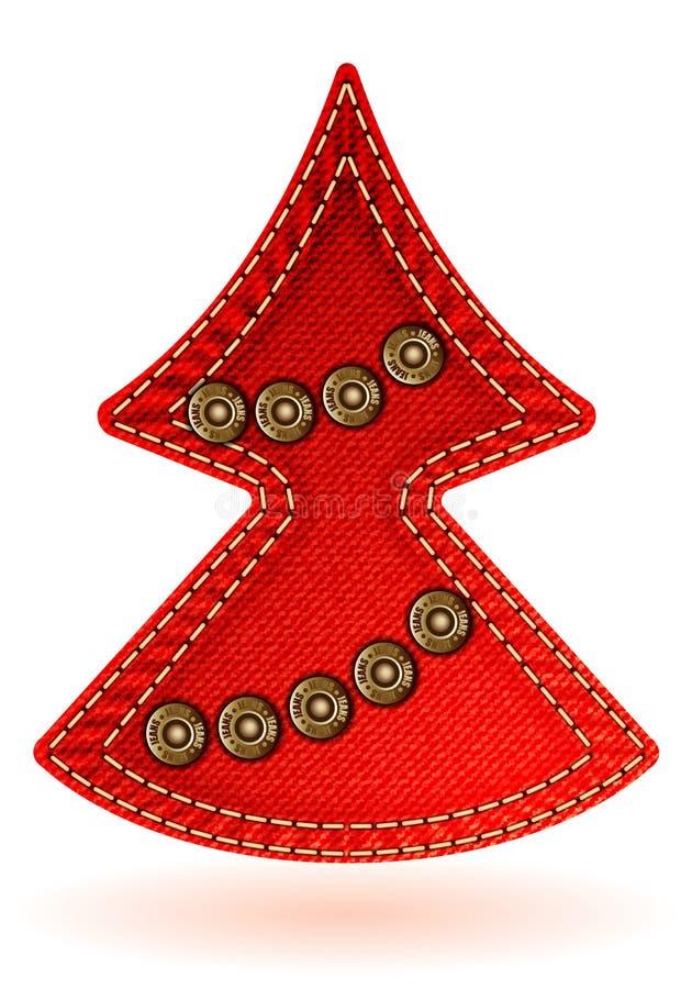 De Textuur Van De Jeans Van Kerstmis Stock Foto