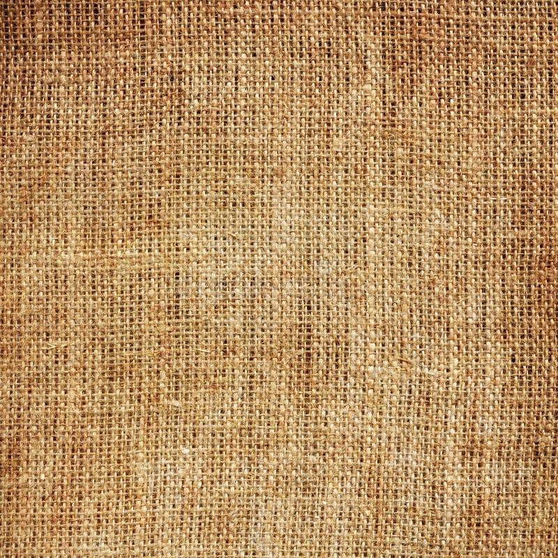 De textuur van de jute stock foto's