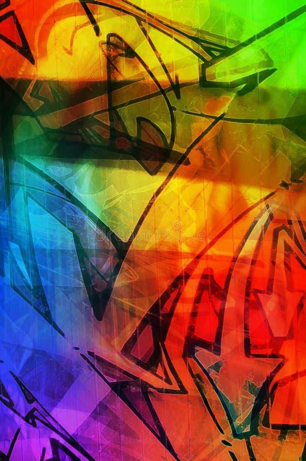 De textuur van de kleur vector illustratie