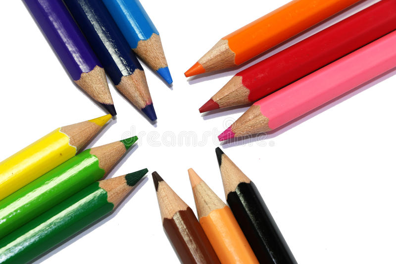 De textuur van de kleurenpen royalty-vrije stock afbeeldingen
