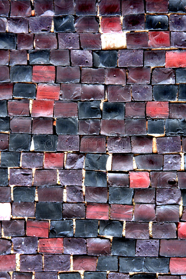 de textuur van de mozaïekmuur stock afbeeldingen