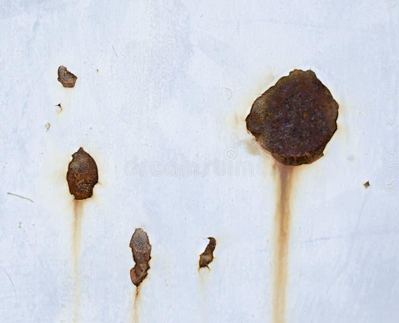 De textuur van de roest De staaf op de linkerzijde is in nadruk stock fotografie