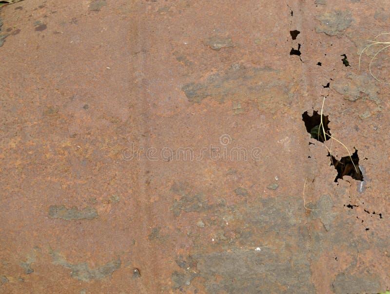 De textuur van de roest De staaf op de linkerzijde is in nadruk royalty-vrije stock afbeeldingen