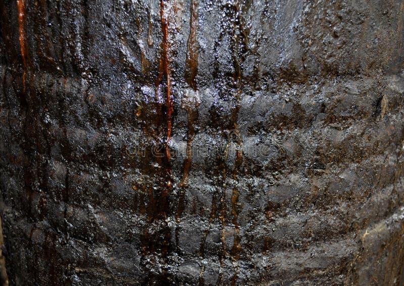 De textuur van de roest De staaf op de linkerzijde is in nadruk stock foto's