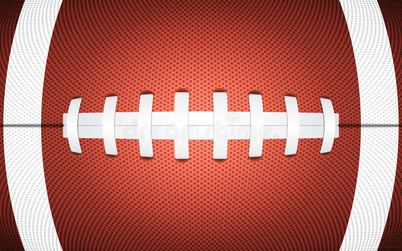 De textuur van de rugbybal, sportieve achtergrond vector illustratie
