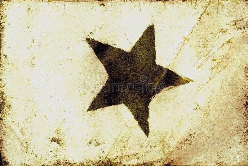 De Textuur van de Ster van Grunge stock illustratie